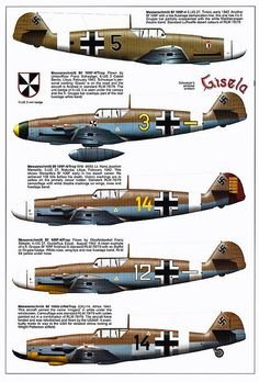 Bf 109 F, F1, F2, F4 and F4 Trop variants (2) | Flickr - Photo Sharing!