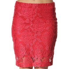 Fusta Dama NOISY MAY Lace Trend