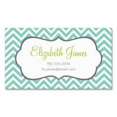 Modern chevron black white pattern business card business cards aqua chevron business card colourmoves