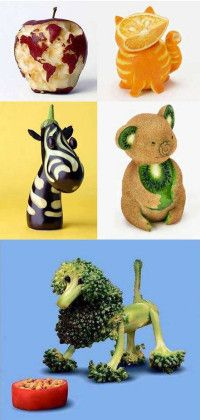Living (): Creative food art that will bring a smile to your kid's face.Mindful Living (): Creative food art that will bring a smile to your kid's face. Cute Food, Good Food, Yummy Food, Veggie Art, Creative Food Art, Creative Snacks, Creative Ideas, Vegetable Carving, Food Carving