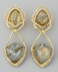 Orbiting Labradorite Clip Earrings by Alexis Bittar at Bergdorf Goodman.