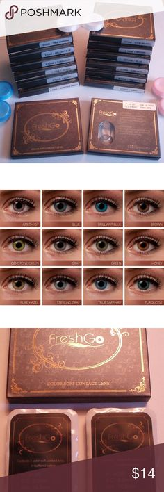 Gemstone Green COLOR EYE CONTACTS COLOR: GEMSTONE GREEN  One pair of Brand New lenses in box + free lens storage case included  Expiration Date: 2022  Can wear for up to 12 months  I SHIP SAME DAY OR NEXT! Other