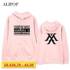 ALIPOP Kpop Monsta X Japan Concert Album Hoodie K-POP Casual Hoodies Clothes Pullover Printed Long Sleeve Sweatshirts WY417