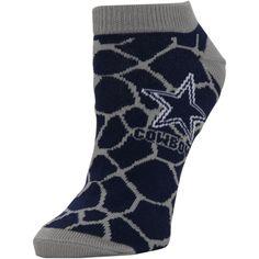 Dallas Cowboys Women's Giraffe Print Ankle Socks – Navy Blue