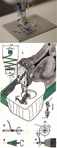 """Всего одна пружина и ваша швейная машинка станет универсальной - Домашнему мастеру - Сборник - Познавательный Интернет-журнал """"Умеха - мир самоделок"""""""