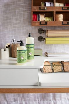 Clean up after a holiday DIY project and leave a festive scent behind with Mrs. Meyer's Clean Day Iowa Pine scent.