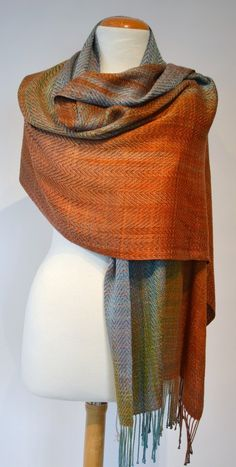 Image of Colourful Twill Shawl (#1608R)