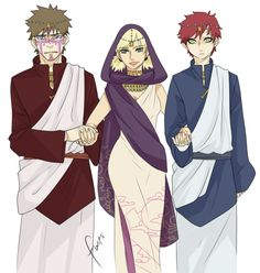 Naruto - Temari + Kankuro & Gaara - ShikaTema I just realized that Temari is getting married and Gaara and Kankuro are walking her down the isle!