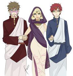 Naruto - Temari + Kankuro & Gaara - ShikaTema I just realized that Temari is getting married and Gaara and Kankuro are walking her down the isle!