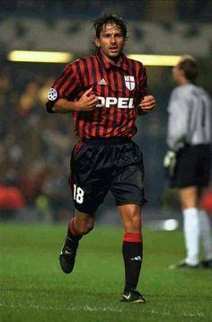 Leonardo of AC Milan & Brazil in 1998.
