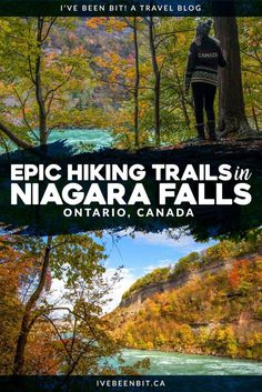 Looking for hiking in Ontario, Canada that offers amazing views, stellar fall foliage & a lot less people? Forget Hamilton's Dundas Peak & do some Niagara Falls hiking at the Niagara Glen Nature Reserve! Calgary, Hiking Places, Hiking Trails, Hiking Spots, Vancouver, Ontario Travel, Canadian Travel, Canadian Rockies, Toronto
