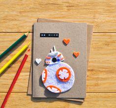 Star Wars Valentine's Day card BB8 droid romance card