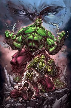 Furious hulk by pant in Marvel Comics Superheroes: Showcase of Colorful Fan Artworks. Part 1