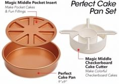 Copper Chef Perfect Cake Pan |  3243+ As Seen on TV Items: http://TVStuffReviews.com/perfect-cake-pan