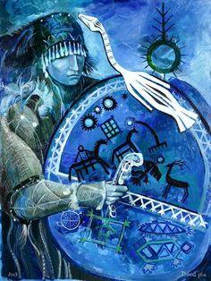 Shaman Woman, Image Glass, Glass Ceramic, Julia, Mosaic Art, Tolkien, Goku, Mythology, The Dreamers