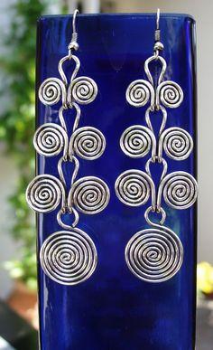Wire Earrings Etruscan swirls by wiredesignbydanilo on Etsy