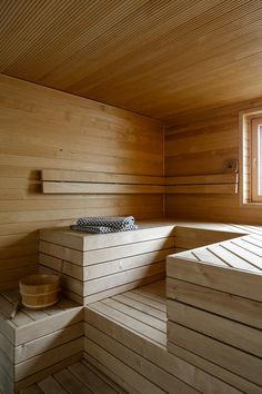 Nice design for a small sauna