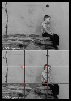 Photographing Kids Tip Rule of Thirds Rule Of Thirds Photography, Photography Rules, Photography Cheat Sheets, Photography Lessons, Photography Camera, Photography Business, Photography Tutorials, Composition Design, Photo Composition