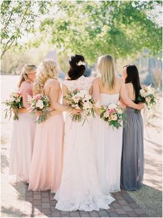 photo by Brushfire Photography http://brushfirephotographyblog.com floral by Sarah's Garden www.sarahsweddinggarden.com bridesmaids at The Lake House