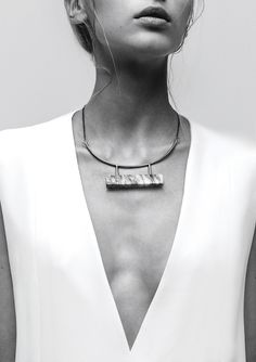Marble Bar Necklace | LLY Atelier | NOT JUST A LABEL
