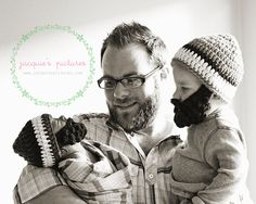 they have knitted beards…just like dad!!!