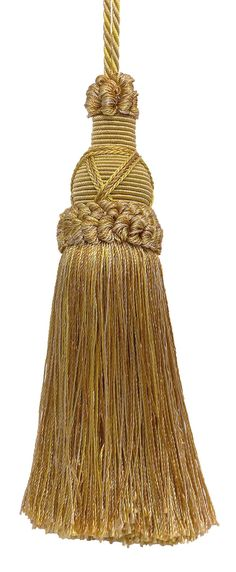 Decorative 5.5 Inch Key Tassel, Antique gold Imperial II Collection Style# KTIC Color: RUSTIC GOLD - 4975