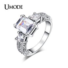 UMODE Brand Rings Women Hot Rhodium plated Jewelry 4 Prongs Setting Cut AAA CZ  Halo Engagement Rings For Women Gift AJR0060     Tag a friend who would love this!     FREE Shipping Worldwide     Get it here ---> http://jewelry-steals.com/products/umode-brand-rings-women-hot-rhodium-plated-jewelry-4-prongs-setting-cut-aaa-cz-halo-engagement-rings-for-women-gift-ajr0060/    #gold_earrings