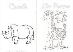 Fazendo a Nossa Festa - Colorir: Safari - Livrinho de Atividades! Jungle Party, Moose Art, 1, Bullet Journal, Comics, Leonardo, Quito, Animals, Baby