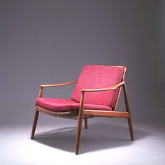 Hartmut Lohmeyer; #400 Teak and Cane Armchair for Wilkhahn, 1958.