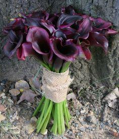 Google Image Result for http://www.eleganceandsimplicity.com/blog/wp-content/uploads/2011/11/halycon-house-purple-mini-calla-lily-bouquet-bridal-burlap.jpg