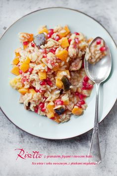 Pomegranate, Fig, Persimmon and Apricot Risotto