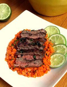 Grilled Skirt Steak + Carrot-Ginger Rice [AIP-Friendly] – fastPaleo