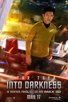 .@Chelsea Fox has the new Sulu character poster from #StarTrek Into Darkness! What do you think?  'Star Trek Into Darkness' Sulu (John Cho) Poster First Look! | Cambio