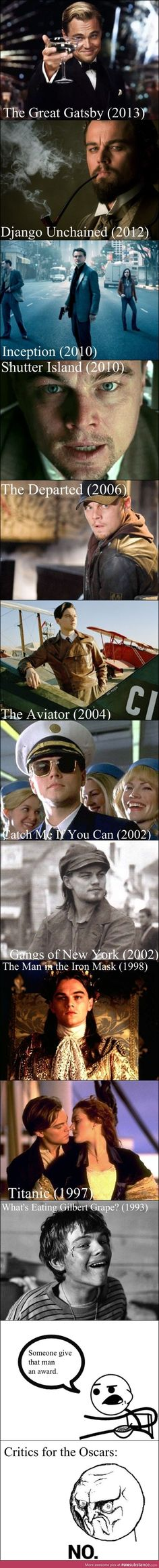 Leonardo DiCaprio seriously I don't think He'll ever win it. Leonardo Dicaprio, Movies Showing, Movies And Tv Shows, John Russell, Cult, Dane Dehaan, Ingmar Bergman, Film Serie, Good Movies