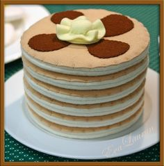 Wool Felt Play Food  Stack of 3 Pancakes  Waldorf by EvaLauryn, $35.00