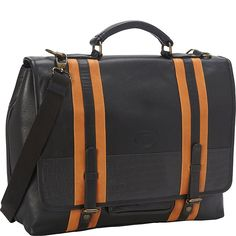 Sharo Leather Bags Women's Executive Black with Stripes Leather Laptop Messenger ** Find out more about the great product at the image link.