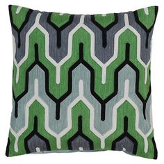Cotton pillow with a multicolor geometric motif. Made in India.     Product: PillowConstruction Material: 100% Cotton