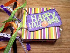 Halloween Premade Mini Scrapbook Album Halloween by HampshireRose, $30.00