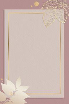 Blank pink rectangle floral card vector | premium image by rawpixel.com / Adj Gold Wallpaper Background, Framed Wallpaper, Iphone Wallpaper, Pink And Gold Background, Frame Background, Wallpaper Backgrounds, Cadre Design, Fond Design, Blank Pink
