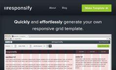 Reponsify - Générateur de modèle de site en ligne - http://twit.lu/fe