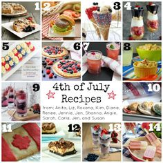 From appetizers to desserts, everything you need for your 4th of July menu!