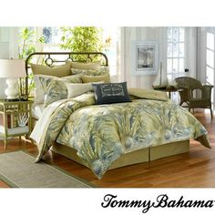 @Overstock.com - Tommy Bahama Tropical Floral 4-piece Comforter Set - Add an exotic look to your bedding with one of these cotton tropical comforter sets from Tony Bahama. Made of cotton, this woven comforter is soft and cozy. This set includes a comforter, a bedskirt, and two shams. This product is machine washable.  http://www.overstock.com/Bedding-Bath/Tommy-Bahama-Tropical-Floral-4-piece-Comforter-Set/7920366/product.html?CID=214117 Add to cart to see special price