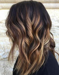 Caramel Balayage For Brunettes