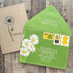 Painting with Gouache – Mail Art – Make a Card Monday Envelope Lettering, Envelope Art, Envelope Design, Calligraphy Envelope, Calligraphy Fonts, Script Fonts, Caligraphy, Mail Art Envelopes, Addressing Envelopes