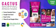 nice Cactus | Buying HTML five Animated Google Banner (Ad Templates)