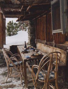 Axel Vervoordt's farmhouse in Verbier, Switzerland