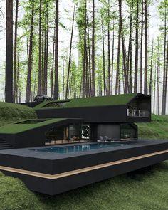 Model Architecture, Architecture Design Concept, Modern Architecture House, Interior Architecture, Amazing Architecture, Modern Houses, Cool Houses, Houses Houses, Minimal Architecture