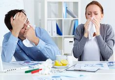 How do I handle employees who attend work while unwell?