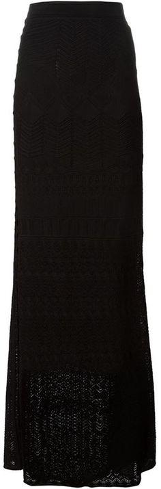 $951, Roberto Cavalli Maxi Lace Skirt. Sold by farfetch.com.