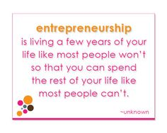Or, in the words of Dave Ramsey...Live like no one else... so you later, you can live like no one else!